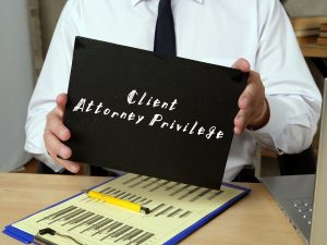 Business concept about Client Attorney Privilege with phrase on the piece of paper.